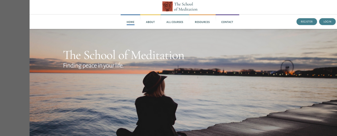 Visit the new School of Meditation website