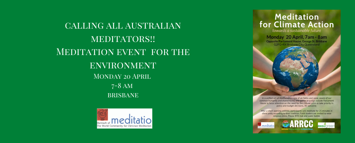 Meditation and the Environment event in Brisbane